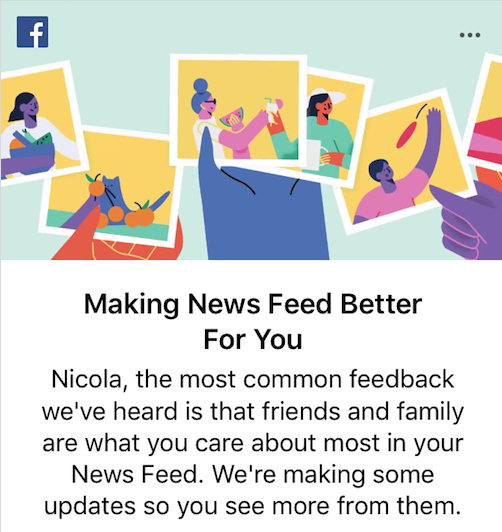 Facebook feeds are changing